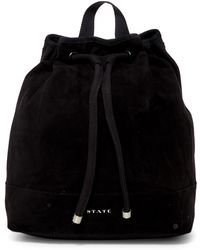 State Bags - Dorset Suede Contrast Backpack - Lyst