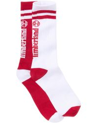 Timberland Striped Ribbed Crew Socks - Pack Of 2