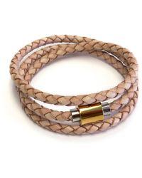 Liza Schwartz - Original Triple Wrap Camel Premium Leather Bracelet - Lyst