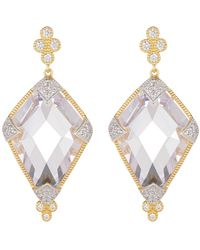 Freida Rothman - 14k Yellow Gold Plated Sterling Silver Visionary Fusion Cz Drop Earrings - Lyst