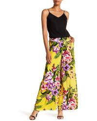 Eci - Floral Print Obsessed Wide Leg Pants - Lyst