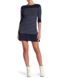Portolano - Stripe Sweater Dress - Lyst