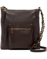 Elliott Lucca   Gwen Flat Leather Crossbody Bag   Lyst