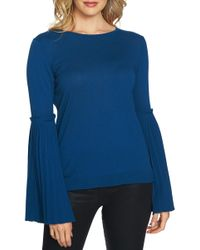 Cece by Cynthia Steffe - Pleated Bell Sleeve Sweater - Lyst