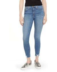 Caslon - (r) Sierra High Waist Raw Hem Skinny Jeans (noriko) - Lyst