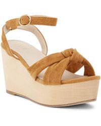 Raye   Faye Knotted Platform Wedge Sandal   Lyst