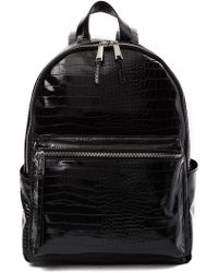 French Connection - Perry Croc Embossed Backpack - Lyst
