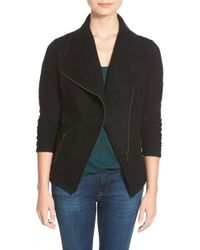 Halogen - Knit Moto Jacket - Lyst