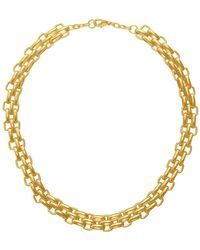 Karine Sultan - Triple Chain Necklace - Lyst