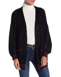 Dreamers By Debut - Contrast Trim Knit Cardigan - Lyst