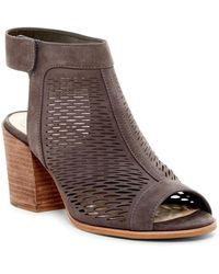 Vince Camuto - Lavette Perforated Peep Toe Bootie - Lyst