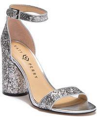 15597678fc1b Katy Perry - The Clara Chunky Glitter Block Heel Sandal - Lyst