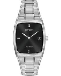 Citizen - Men's Eco-drive Stainless Tonneau Bracelet Watch - Lyst