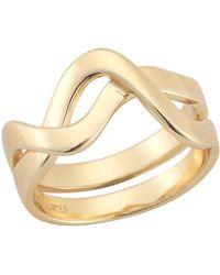 Elizabeth and James - Sueno Wave Split Shank Ring - Lyst