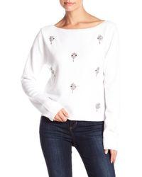 Muche Et Muchette - Rhinestone Accented Sweater Top - Lyst