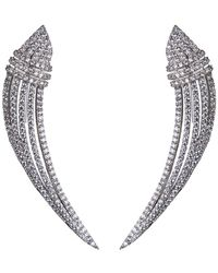 CZ by Kenneth Jay Lane - Pave Cz Statement Earrings - Lyst