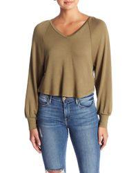 Hiatus - Strappy V-neck Sweater - Lyst