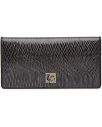 Ferragamo - Long Bifold Genuine Lizard & Leather Wallet - Lyst
