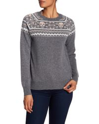 Skull Cashmere - Miley Skull Print Cashmere Sweater - Lyst