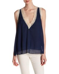 Romeo and Juliet Couture - Pleated V-neck Tank - Lyst