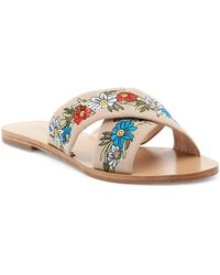 RAYE - Sully Embroidered Slide Sandal - Lyst
