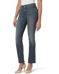 NYDJ - Marilyn Raw Hem Stretch Ankle Straight Leg Jeans (desert Gold) - Lyst