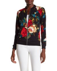 West Kei - Asian Floral Print Bomber Jacket - Lyst