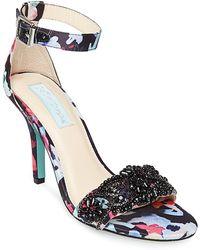 Betsey Johnson - Gina Embellished Stiletto Sandal - Lyst