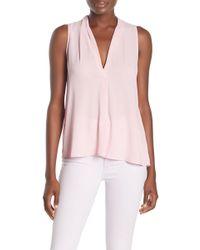 Lush - Perfect Sleeveless Henley Shirt - Lyst