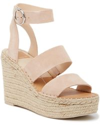 78d683deec8 Dolce Vita Barkley Cork Wedge Sandal in Orange - Lyst
