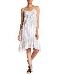 Rebecca Minkoff - Taylor Striped Ruffle Detailed Dress - Lyst