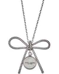Marc Jacobs - Rope Bow Pendant Necklace - Lyst