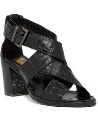 Jo Ghost Croc Embossed Leather Mid Heel Sandal wTLuNQph