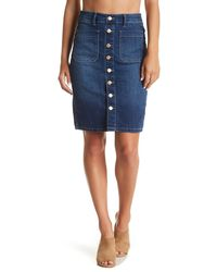 Dex - Denim Slim Pencil Skirt - Lyst