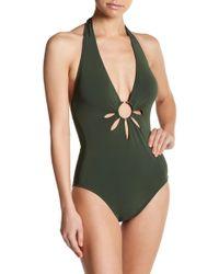 Robin Piccone - Ava Petal Cutout One-piece Swimsuit - Lyst