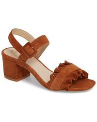 e58b58d0381a Lyst - BCBGeneration Ronny Chunky Heel Sandal in Brown