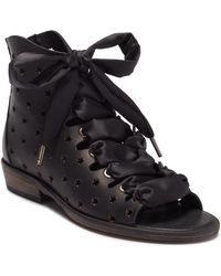 Free People - Palms Lace-up Leather Sandal - Lyst