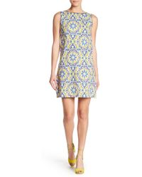 Betsey Johnson - Printed Cotton Shift Dress - Lyst