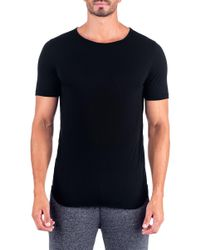 Unsimply Stitched - Super Soft Relaxed Neck Short Sleeve Lounge Tee - Lyst