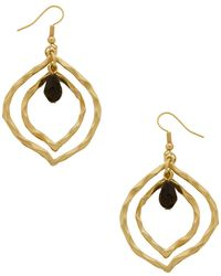 Karine Sultan - Hammered Double Twist Teardrop Earrings - Lyst