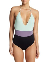 Tavik - Colorblocked Halter One-piece Swimsuit - Lyst
