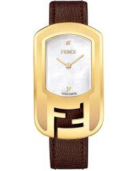 Fendi - Women's Swiss Quartz Diamond Accented Watch, 29mm X 49mm - 0.008 Ctw - Lyst