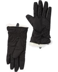 Modena - Nylon & Genuine Rabbit Fur Trimmed Gloves - Lyst