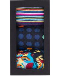 Bugatchi - Assorted 3-pack Mercerized Cotton Blend Sock Gift Set - Lyst