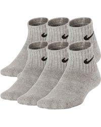 Nike - Performance Cushioned Quarter Socks - Pack Of 6 - Lyst