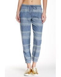 Level 99 - Jackie Printed Linen Jogger - Lyst
