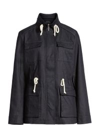 Cole Haan - Safari Jacket With Stand Collar - Lyst