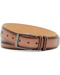 Mezlan - Diver Brogued Leather Belt - Lyst