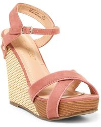 In Touch Footwear | Aimee Wedge Sandal | Lyst