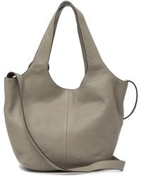 Elizabeth and James - Small Finley Croc Embossed Leather Shopper - Lyst